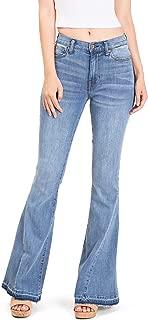 Kendall & Kylie Women's Juniors High Waist Flared Bell Bottom Jeans