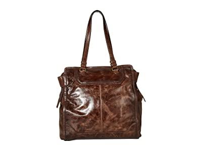 Frye Mel Tote (Dark Brown) Handbags