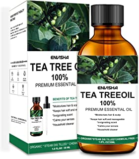 Wumal Tea Tree Oil - 100% Pure & Natural Essential Oil, Perfect for Aromatherapy, Relaxation, Skin Therapy, Nail Acne Lice...