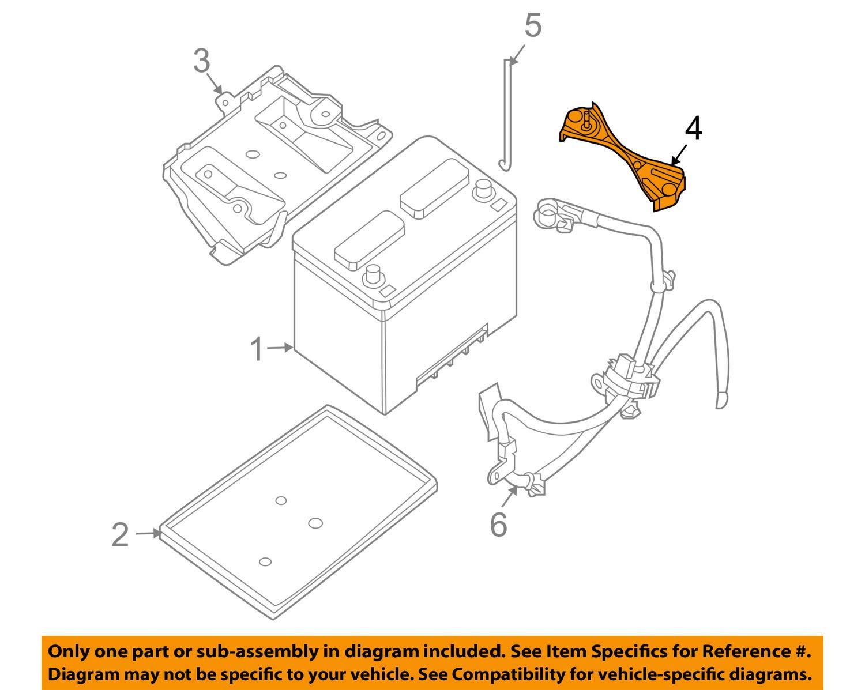 amazon.com: genuine nissan parts - frame-battery fix (24420-ja000),  regular: automotive  amazon.com