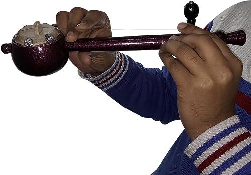 India Meets India Handmade 12 5 Inch Iktara Tumbi Indian Folk Musical Instrument For Kids Playing Decorated Guitar