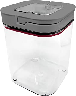 NERTHUS Recipiente Hermético Cuadrado 1100 ml, Caja de conservación de alimentos hermética, libre de BPA, Cierre facil, Bote hermético, tupper, Única