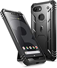 Google Pixel 3 XL Kickstand Rugged Case, Poetic Revolution [360 Degree Protection] Full-Body Rugged Heavy Duty Case with [Built-in-Screen Protector] for Google Pixel 3 XL Black