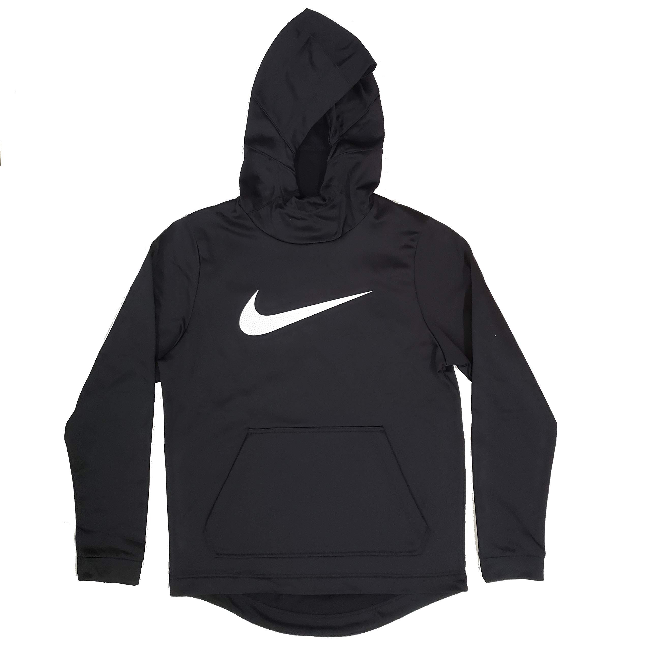 Best Buy Nike Therma Men's Dri-Fit Hooded Sweatshirt Hoodie Black White CD7103 010 Reviews