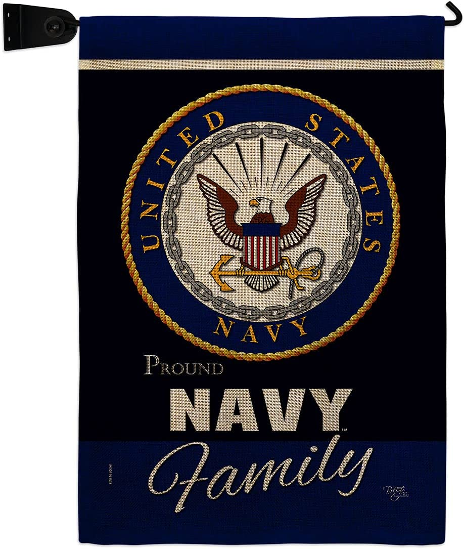 Navy Proudly Family Burlap Garden Set 70% online shop OFF Outlet Hanger Mailbox Flag Armed
