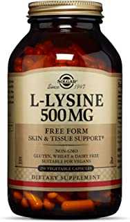 Solgar L-Lysine Vegetable Capsules, 500 mg, 250 Count – Supports Healthy Skin and Lips