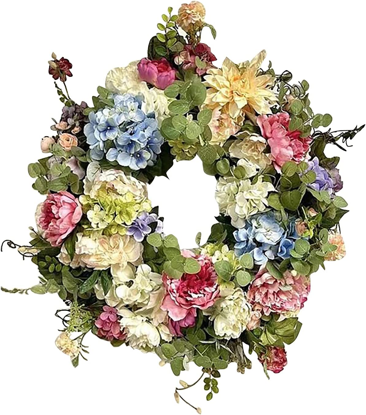 rui All items in the store tai Elegant Artificial Wreaths Christmas Colorful Wreath Simulation