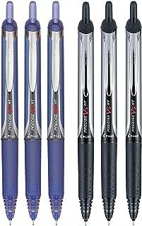Pilot Precise V5 RT Retractable Rolling Ball Pens, Extra Fine Point, 3 Black & 3 Blue, (6 Pens)
