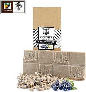 Chocolate blanco con arándanos artesano
