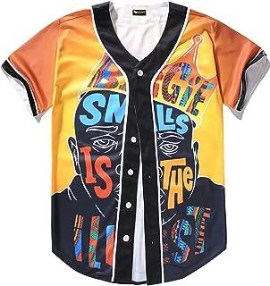 Unisex Mens Arc Bottom 3D Print Baseball Team Jersey Shirt