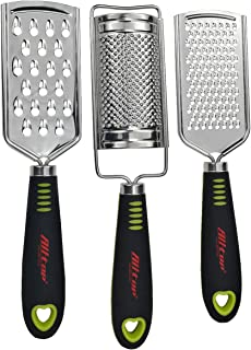 ALLTOP Graters for Cheese,Nutmeg,Potato,Ginger and Garlic,Hand-held Stainless Steel..