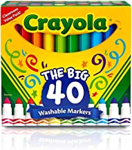 Crayola Ultra Clean Washable Broad Line Markers, 40 Classic Colors, Gift for Kids, Pack of 8