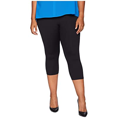 KARI LYN Plus Size Life-Changing Capri Leggings (Black) Women