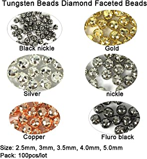 Think Fast Think Deep Beads Aventik 100pc Tungsten Beads Diamond Faceted Slotted Fly Tying Materials 10 Colors / 5 Sizes Fly Fishing Reflex Faceted Jig Hook