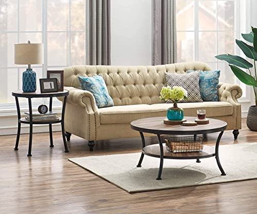 popular O&K Furniture Round Coffee online sale Table and End discount Table online