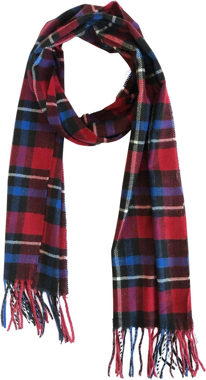 Women Men Unisex Super Soft Warm Win Cashmere Max 88% OFF Online limited product Plaid Classic Feel