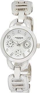 Akribos XXIV Womens Quartz Watch, Analog Display and Stainless Steel Strap AK703SS