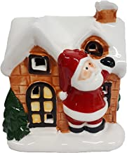 Enfeite de Natal Casinha de Papai Noel em Cerâmica