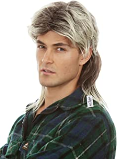 Mullet Wigs for Men 80s Costumes Mens Blonde Mullet Wig Merica Joe Dirt White Trash Costume Accessories