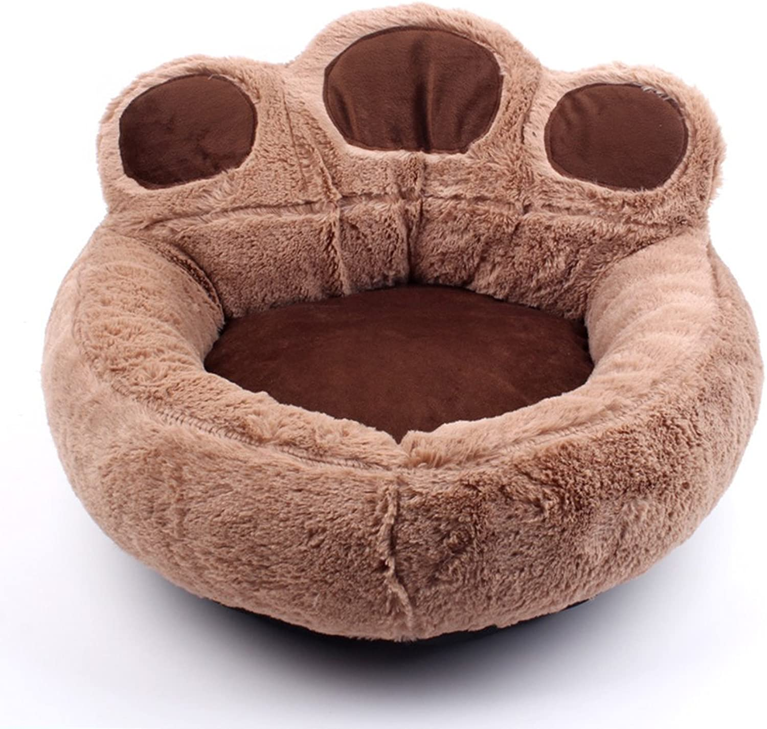 Cute Bear Paw Shape Pet Cat Dog Plush Nest, Four Seasons Universal Plus Mat Pet Bed, Suitable For Small Dogs Teddy And Cat