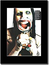 gasolinerainbows - Marilyn Manson - New York 1997 - Hits - Matted Mounted Magazine Promotional Artwork on a Black Mount
