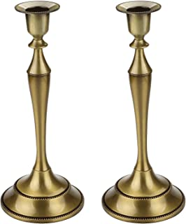 CBTONE Metal Taper Candle Holder Set of 2 Bronze Candlestick Holder Candelabra Candle Stand for Wedding Ceremony Party Home Decor