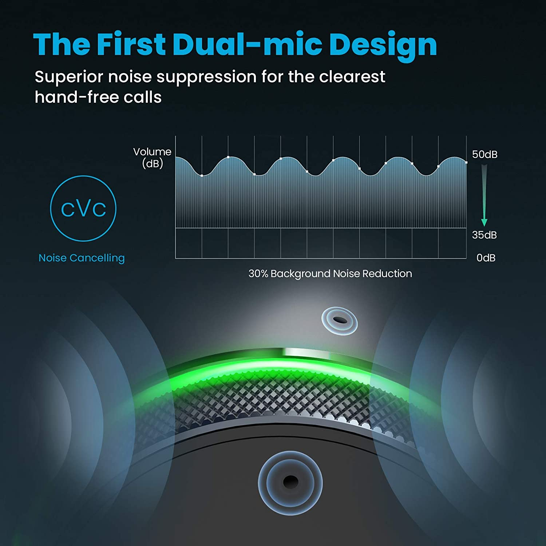 VicTsing FM Transmitter Bluetooth, 9 RGB Backlit Auto Frequency Tuning Ring Knob Car Radio QC3.0 Music Player//Car Kit Hands-Free Calls Dual-mic