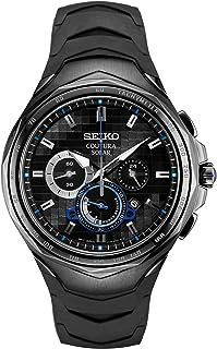 Coutura Men's Solar Chronograph Watch, Black, White, Blue, Chronograph