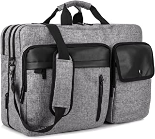 DTBG Nylon Versatile Convertile Spacious Business Casual Travel Laptop Menssenger Briefcase Computer Shoulder Hiking Bag Backpack Daypack for 15.6-17.3 Inch Laptop/Notebook/MacBook/Tablet,Grey