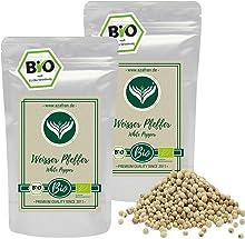 Azafran BIO Pfeffer weiß (Pfefferkörner ganz) Pfeffermühlen geeignet 500g