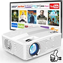 [Native 1080P Projector] DR. J Professional 6800Lumens LCD Projector Full HD Projector..