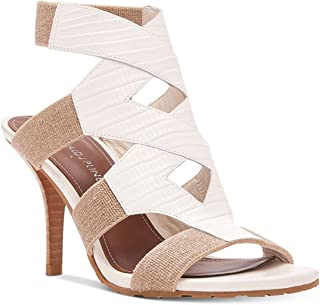 Donald J Pliner Womens Gwen Leather Open Toe Casual Sandals Bone/Natural Size 11.0 M US
