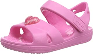 Crocs Unisex-Child Preschool Classic Cross-Strap Sandal | Slip on Water Shoes for Kids