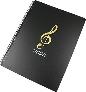 Dossier de rangement pour partitions de musique Format A4 40 pochettes G Clef, Sac de rangement pour documents de stockage...