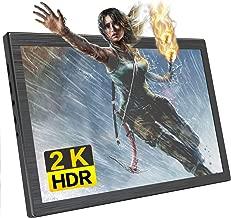 Portable Gaming Monitor 2K Display 10.1-inch Resolution 2560×1600 QHD Dual HDMI Port for Xbox /PS4 /Nintendo/Raspberry pi/Mini Mac/Mini PC