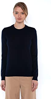 J CASHMERE Women's 100% Cashmere Long Sleeve Pullover Crew Neck Sweater