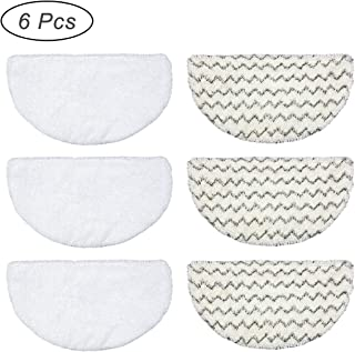GWGP Steam Mop Replacement Pads for Bissell Powerfresh Steam Mop 1940 1440 1544 Series 19402 19404 19408 19409 194040q 1940t 1940a 1940f 19w b0006 b0017 Washable Microfiber Floor Cleaning (6PCS)