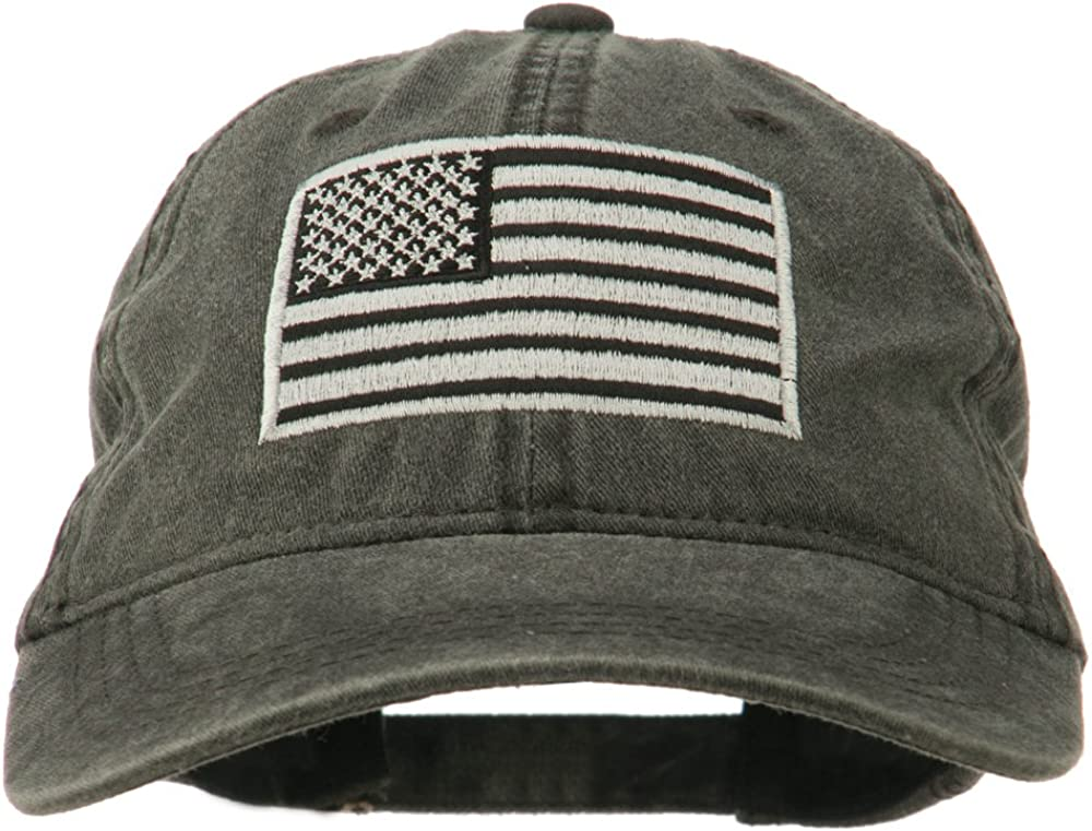 Selling and selling e4Hats.com Silver American Flag Washed Embroidered Cap Superior