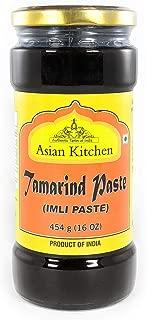 Asian Kitchen Natural Tamarind (Imli) Paste 16oz (1lb) Glass Jar, No added sugar, Vegan ~ Gluten Free   NON-GMO   No Colors   Indian Origin