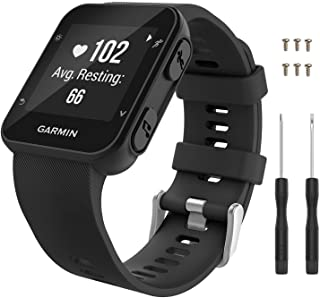 MoKo Watch Band Compatible with Forerunner 35, Soft Silicone Watch Band Sport Bracelet Strap with 6pcs Screws and 2pcs Scr...