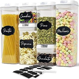 joeji's Kitchen Lot de 6 boîtes hermétiques- Boîtes de Conservation Alimentaire pour Rangement de la Cuisine — en Plastiqu...