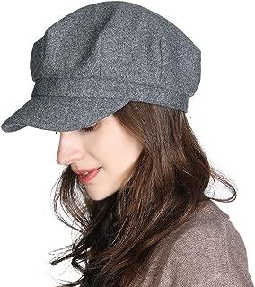 Packable Beret Newsboy Cap for Women Spring Summer Winter Gatsby Visor Hat 55-59 cm