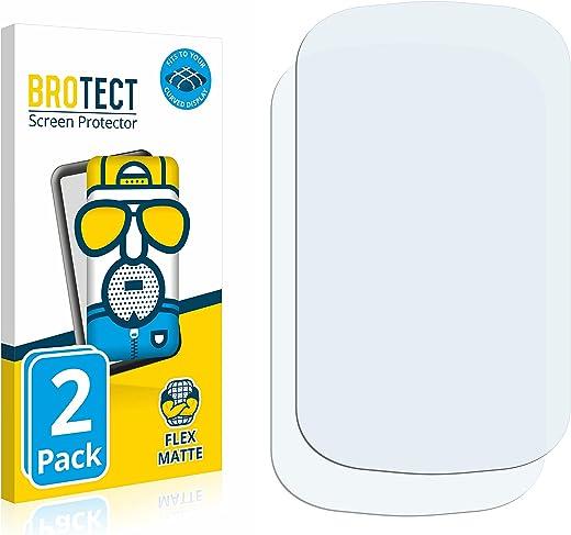 BROTECT Full-Cover Antireflecterende Screenprotector compatibel met Fitbit Charge 5 (2 Stuks), 3D Curved, Anti-Glare Screen Protector, Mat