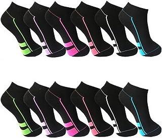 BestSale247 12 Paar modische Damen Mädchen Sneaker Socken Füßlinge Baumwolle