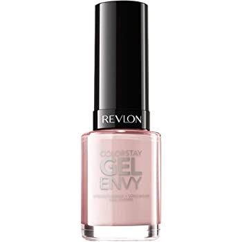 Revlon ColorStay Gel Envy Longwear Nail Polish, with Built-in Base Coat & Glossy Shine Finish, in Nude/Brown, 015 Up In Charms, 0.4 oz