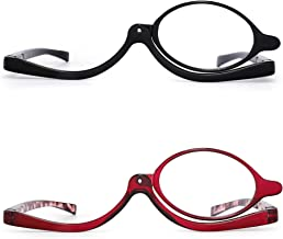 Inlefen Lunettes de maquillage grossissant maquillage Lunettes Spectacles Flip Down Lunettes de lecture