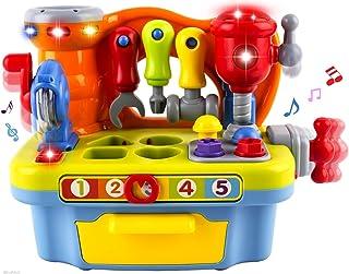 Wishtime Conjunto de Herramientas Musicales Juego de Herramientas para Niños Juego de Herramientas con clasificador de Formas para Niños