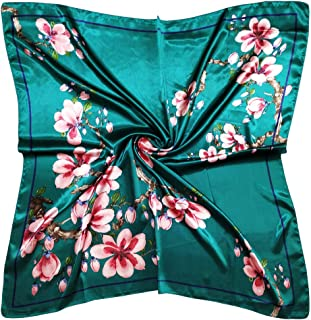 """Vabovin Women's 35"""" Satin Square Silk Like Hair Scarves and Wraps Headscarf for Sleeping"""