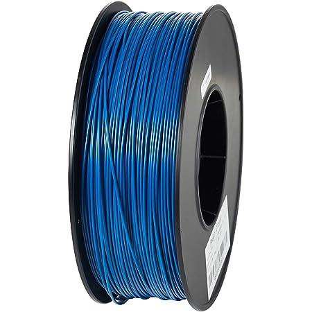 3Dプリンター用 フィラメント マテリアル ABS樹脂 材料 1kg 熱積層方式 FDM3Dプリンター対応 1.75mm径!8色選択可!スプール寸法: 幅200mm、穴径55mm、厚み70mm (ブルー)