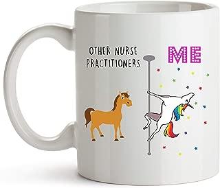 YouNique Designs Nurse Practitioner Mug, 11 Ounces, Unicorn Mug for Nurse Practitioner Graduation Gifts (White)